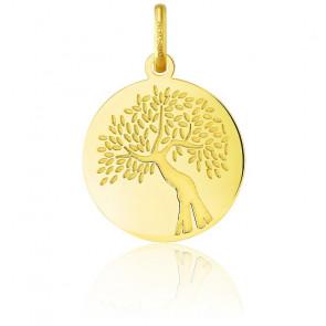 Médaille Arbre de Vie Rameaux Or Jaune 18K