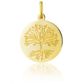Médaille Arbre de Vie Racines Or Jaune 18K