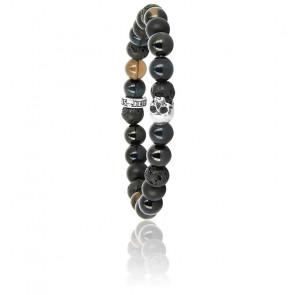 Bracelet K.I.S.S. Candy Inagua Onyx & Argent
