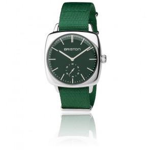 Clubmaster Vintage Acier HM Petites secondes Nato vert