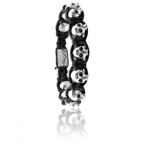 Bracelet Black Beard Cuir & Argent