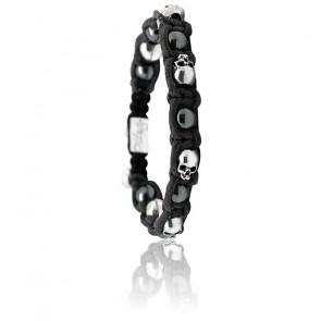 Bracelet Tainted Sea Cuir, Hématite & Argent