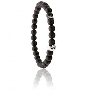 Bracelet Mini Mat Onyx & Argent