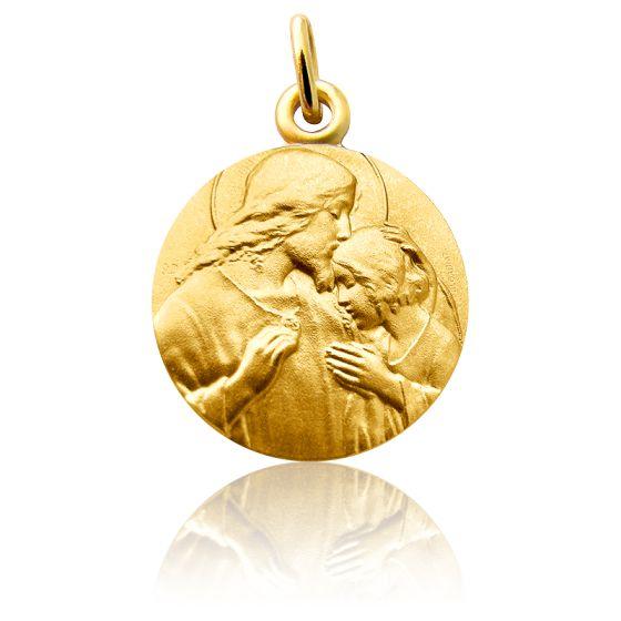 Médaille Communion Or Jaune 18K