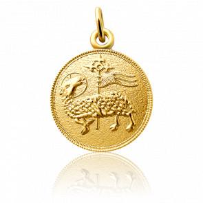 Médaille Agnus Dei Or Jaune 18K