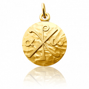 Médaille Chrisme Or Jaune 18K