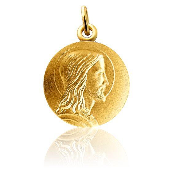 Médaille Jésus Profil Or Jaune 18K