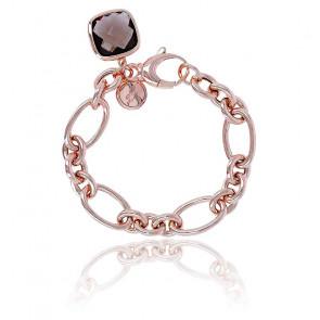 Bracelet Victoria Chaîne & Quartz Fumé