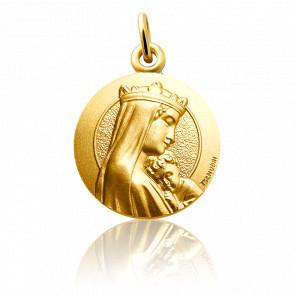 Médaille Notre Dame de la Sagesse Or Jaune 18K