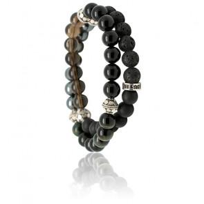 Bracelet Little Inagua Onyx & Argent