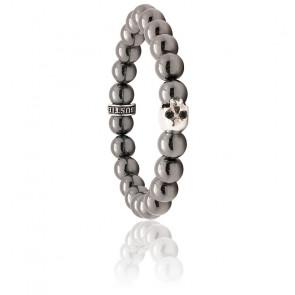 Bracelet K.I.S.S. Hématite & Argent
