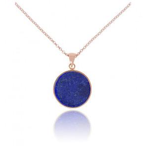 Collier Alba Disque Lapis Lazuli