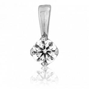 Pendentif Alone Diamant 0,25 ct & Or blanc 18K