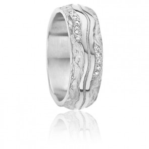 Alliance Nausicaa Diamants & Or Blanc 18K