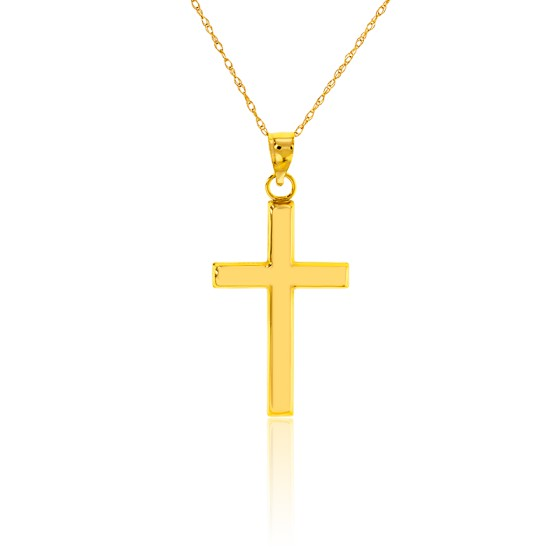 Collier Croix Or Jaune 9K