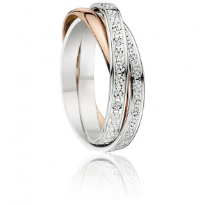 Alliance Firoza Or Rose & Or Blanc Diamanté 18K