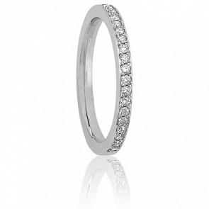 Alliance Coralie 3 mm Platine & Diamants