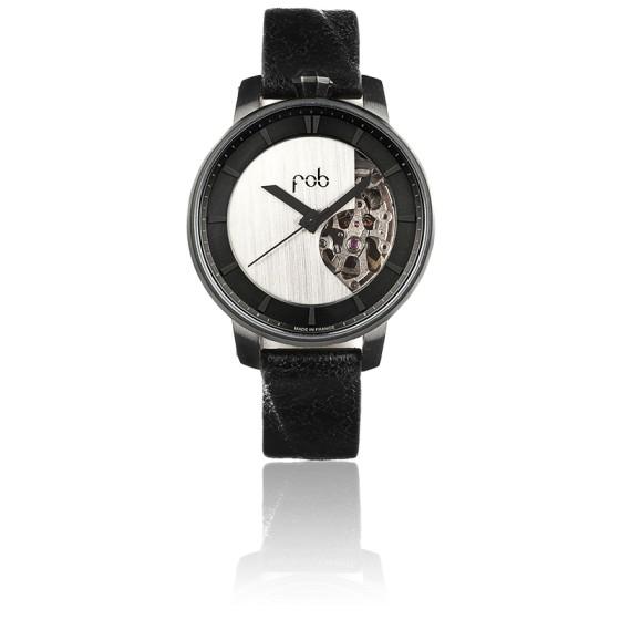 Montre Rehab 360 Noir Mat semi-solid silver