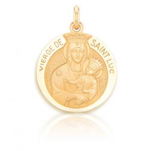 Médaille Vierge de Saint Luc Or Jaune 18K