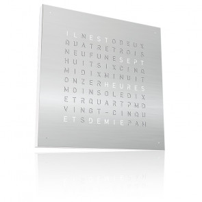 Qlocktwo Classic : Stainless Steel