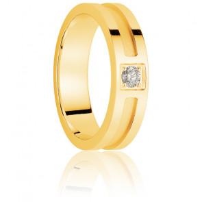 Alliance Cartavio 3,5 mm Or Jaune & Diamant