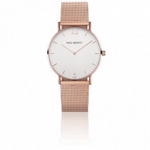 Sailor Line Rose Gold White Sand Maille Milanaise Rose Gold