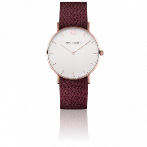 Sailor Line Rose Gold White Sand Perlon Dark Berry