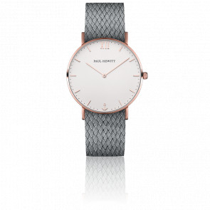 Sailor Line Rose Gold White Sand Perlon Gris