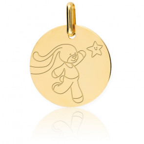 Médaille Lapinou Or Jaune