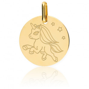 Médaille Licorne Or Jaune