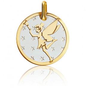 Médaille Fée Acier & Or Jaune 18K