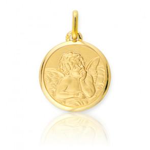 Médaille Ange Raphael Rêveur Or Jaune