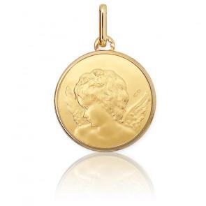 Médaille Ange Raphaël Profil Or Jaune