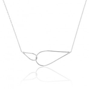Collier Raindrops Argent
