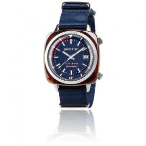 Clubmaster Diver Acétate Cadran Bleu