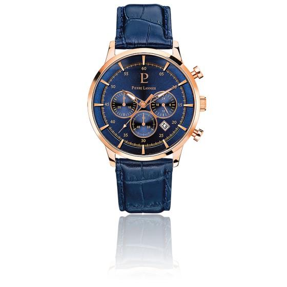 Montre 225D466 Cuir Bleu