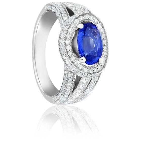 Bague Mille & Une Nuits Saphir, Diamants & Or Blanc 18K
