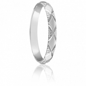 Alliance Argeles 2,5 mm Or Blanc 18K