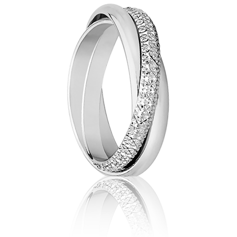 Connu Alliance or blanc & Bague mariage or gris - Ocarat WM76