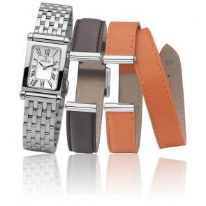 Antares Coffret bracelets acier, cuir interchangeables