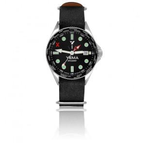 Spacegraf Bracelet Nato Cuir Noir YMHF2016-AGMTSN01