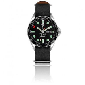 Spacegraf Bracelet Nato Cuir Noir YMHF2016-AJDSN01