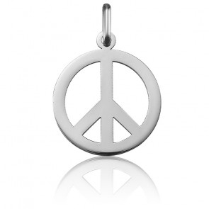 Médaille Peace And Love Or Blanc 18K