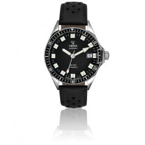 Superman Automatique Black Bracelet Perforé Noir YMHF1550A-AS11