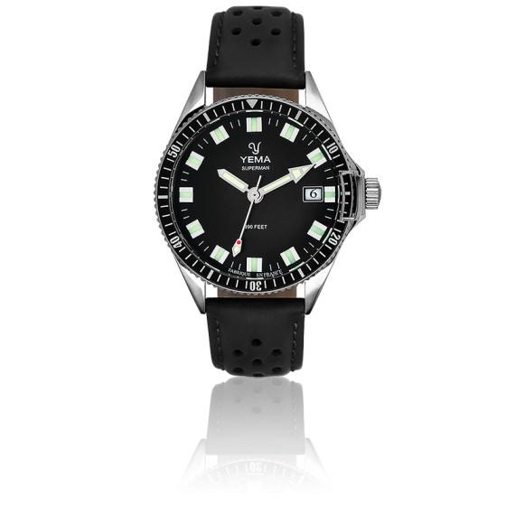 Superman Black Bracelet perforé noir YMHF1551-AS11