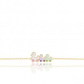 Bracelet Petits Canards Or Jaune 9K