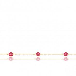 Bracelet Trois Roses Or Jaune 9K