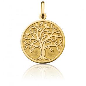 Médaille Arbre de Vie Grand Feuillage Or Jaune 18K