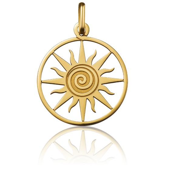 Médaille Soleil Ajourée Or Jaune 18K