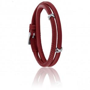 Bracelet A-Mer-Elle 2R Amarante & Métal Rhodié